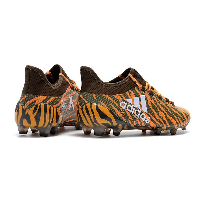 low priced 426bd 8928b Chaussures Orange Vif 17 Adidas Football De Fg Olive X 1 2018 d6q4UAd