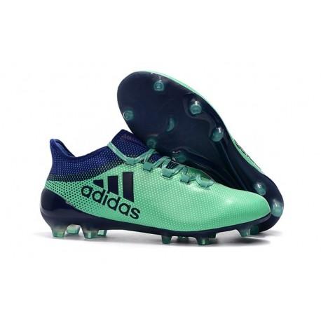 2018 Chaussures de Football - Adidas X 17.1 FG Vert Aero Encre Vert