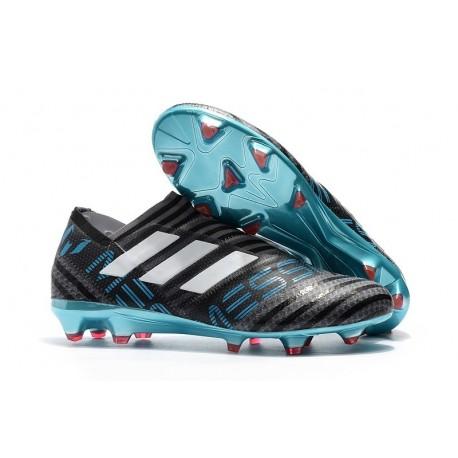 new concept 34b6e b9903 Chaussures de Football pour Hommes Adidas Nemeziz 17+ 360 Agility FG Gris  Blanc Noir