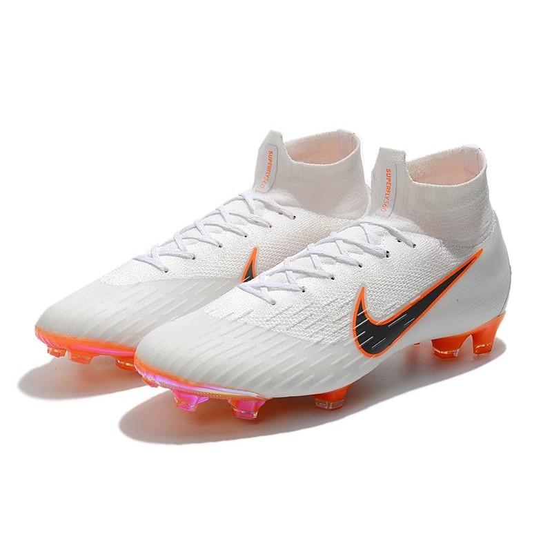 newest collection f12d4 6df87 Chaussures football Nike Mercurial Superfly VI 360 Elite FG pour Hommes  Blanc Gris Métallique Orange Total Zoom. Précédent. Suivant