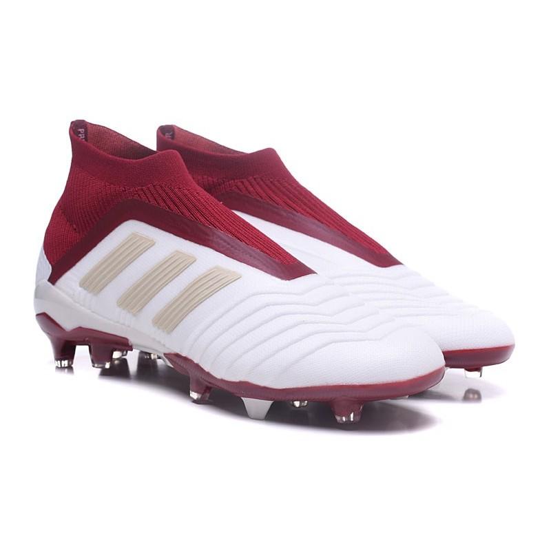 free shipping 5e581 b5e92 Chaussures de Football 2018 - adidas Predator 18+ FG Blanc Rouge Zoom.  Précédent. Suivant