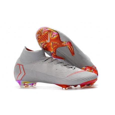 Chaussures football Nike Mercurial Superfly VI 360 Elite FG pour Hommes Gris Rouge