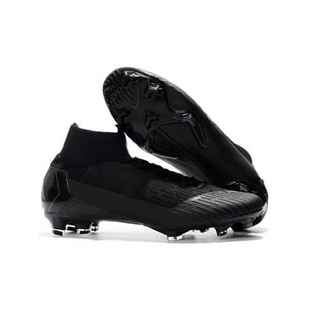 Chaussures football Nike Mercurial Superfly VI 360 Elite FG pour Hommes Tout Noir Coupe du Monde