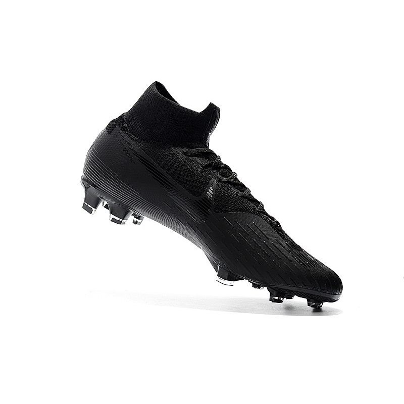 size 40 87e4d 4a890 Chaussures football Nike Mercurial Superfly VI 360 Elite FG pour Hommes  Tout Noir Coupe du Monde Zoom. Précédent. Suivant