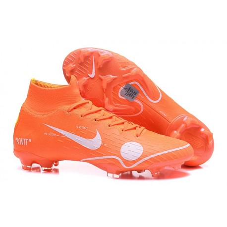 Chaussures football Nike Mercurial Superfly VI 360 Elite FG pour Hommes Orange Blanc Bleu Jaune Off-White For Nike