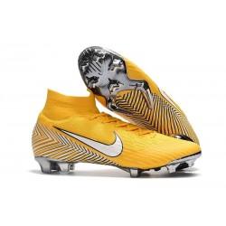 Chaussures football Nike Mercurial Superfly VI 360 Elite FG pour Hommes Jaune Amarillo Noir Blanc
