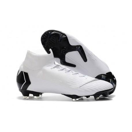 detailed look e40f6 5a4ba Chaussures football Nike Mercurial Superfly VI 360 Elite FG pour Hommes Blanc  Noir