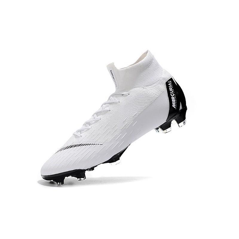 online retailer 4b52d 247a0 Chaussures football Nike Mercurial Superfly VI 360 Elite FG pour Hommes  Blanc Noir Zoom. Précédent. Suivant