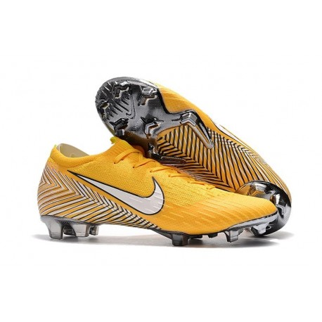 Nouveau Crampons de Football Nike Mercurial Vapor XII Elite FG Jaune Amarillo Noir Blanc