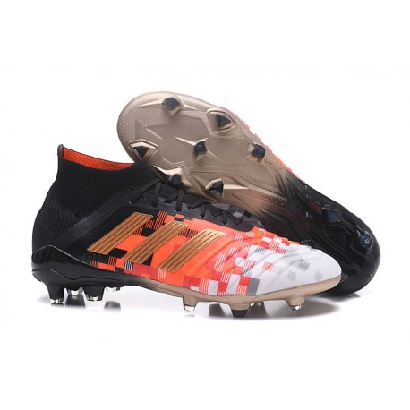 Chaussures de Football Pour Hommes - adidas Predator Telstar 18.1 FG Noir Cuivre Gris