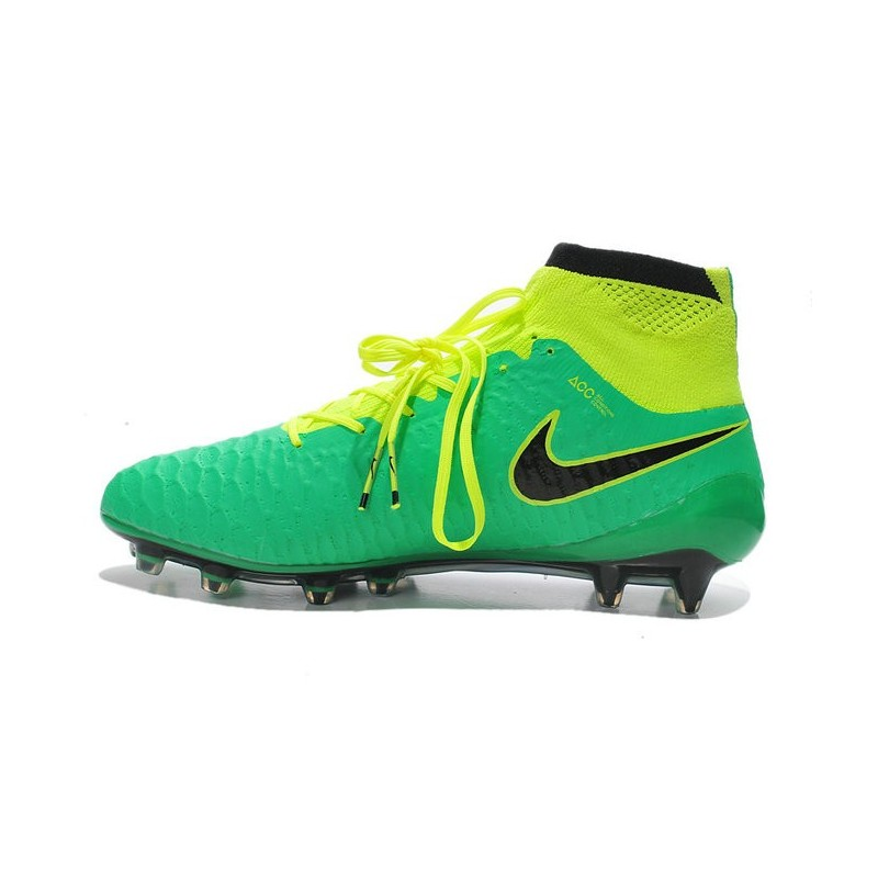 2015 chaussures football magista obra fg pas cher vert jaune noir. Black Bedroom Furniture Sets. Home Design Ideas