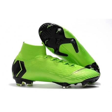 Chaussures de Foot Nike Mercurial Superfly 6 Elite FG - Vert Noir