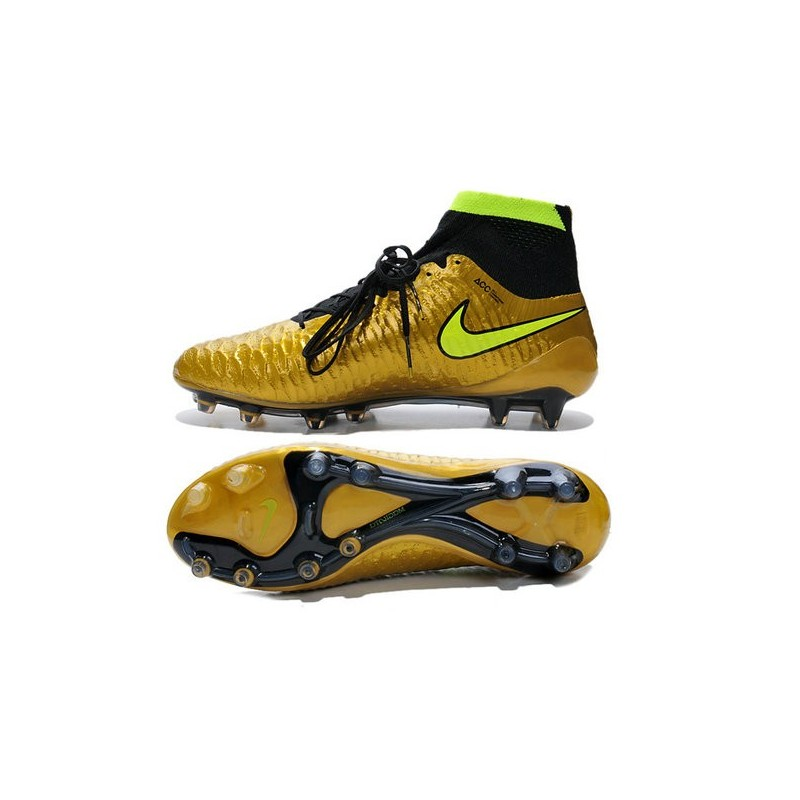 2015 chaussures football magista obra fg pas cher or volt noir. Black Bedroom Furniture Sets. Home Design Ideas
