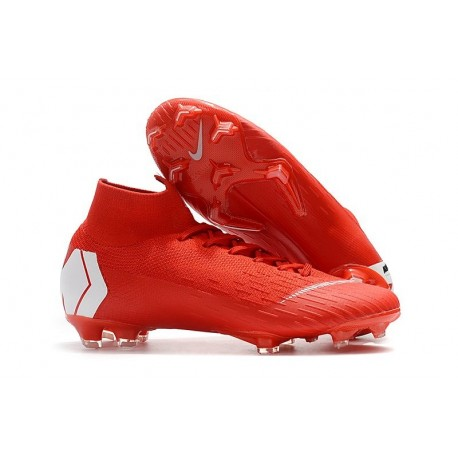 Chaussures football Nike Mercurial Superfly VI 360 Elite FG pour Hommes Rouge Blanc