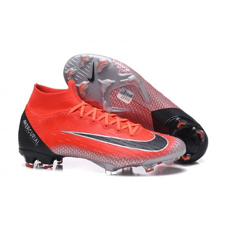 Chaussures football Nike Mercurial Superfly VI 360 Elite FG pour Hommes Rouge Noir
