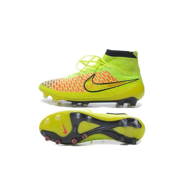 brand new 8c263 e2777 Chaussures Football Magista Obra FG - Terrain Sec - Vert Orange Rouge Noir