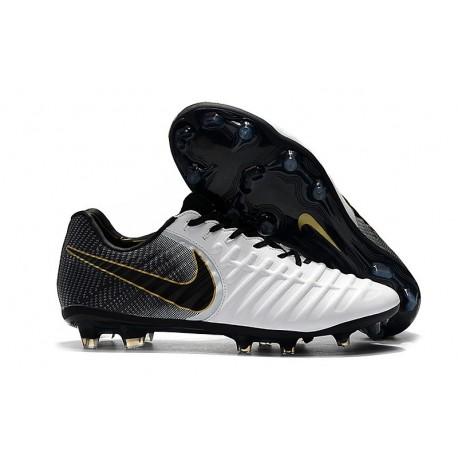 Nouveau Chaussures de Football - Nike Tiempo Legend VII FG Or Blanc Noir