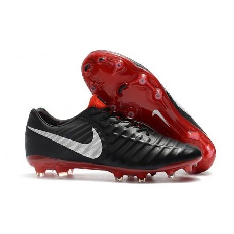 Nouveau Chaussures de Football - Nike Tiempo Legend VII FG Noir Rouge Argent