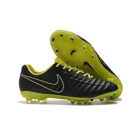 Nouveau Chaussures de Football - Nike Tiempo Legend VII FG Noir Jaune