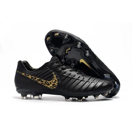 Nouveau Chaussures de Football - Nike Tiempo Legend VII FG LÉOpard D'or Noir