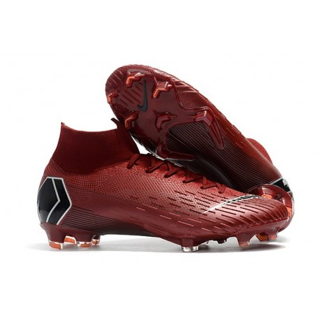Chaussures football Nike Mercurial Superfly VI 360 Elite FG pour Hommes Vin Rouge