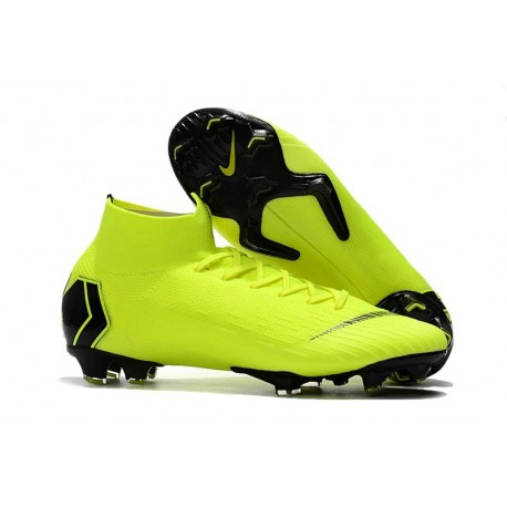 Chaussures football Nike Mercurial Superfly VI 360 Elite FG pour Hommes Jaune Fluorescent