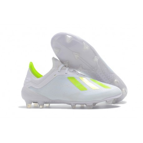Chaussures de football 2018 - Adidas X 18.1 FG - Blanc Jaune