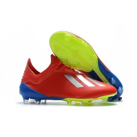 Chaussures de football 2018 Adidas X 18.1 FG Argent Rouge