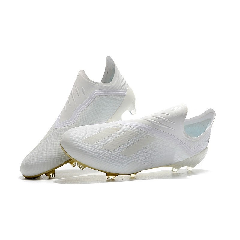 Cassé Chaussures X Nouveau De Noir Football 18Fg Adidas Blanc 3Aj54RL