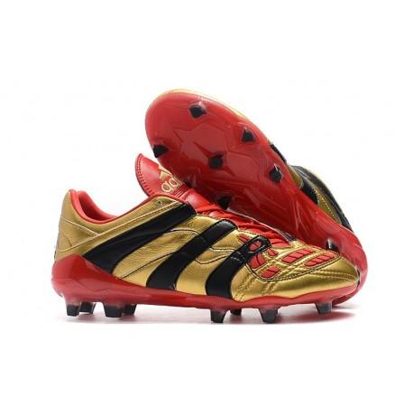 Chaussures de Football Adidas Predator Accelerator Electricity FG Or Rouge Noir