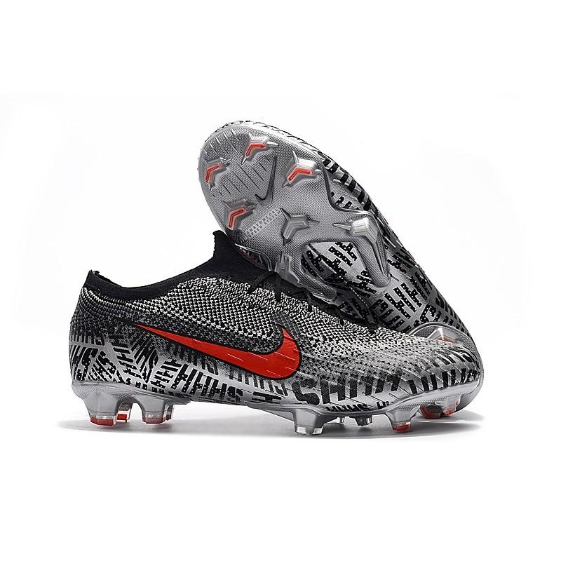 innovative design 0bb6c 58fe1 Crampons de Foot Nike Mercurial Vapor XII Elite FG pour Hommes Neymar Noir  Blanc Rouge Zoom. Précédent. Suivant