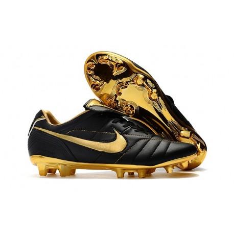 Nouveau Chaussures Football Nike Tiempo Legend VII 10R Elite FG Or Noir
