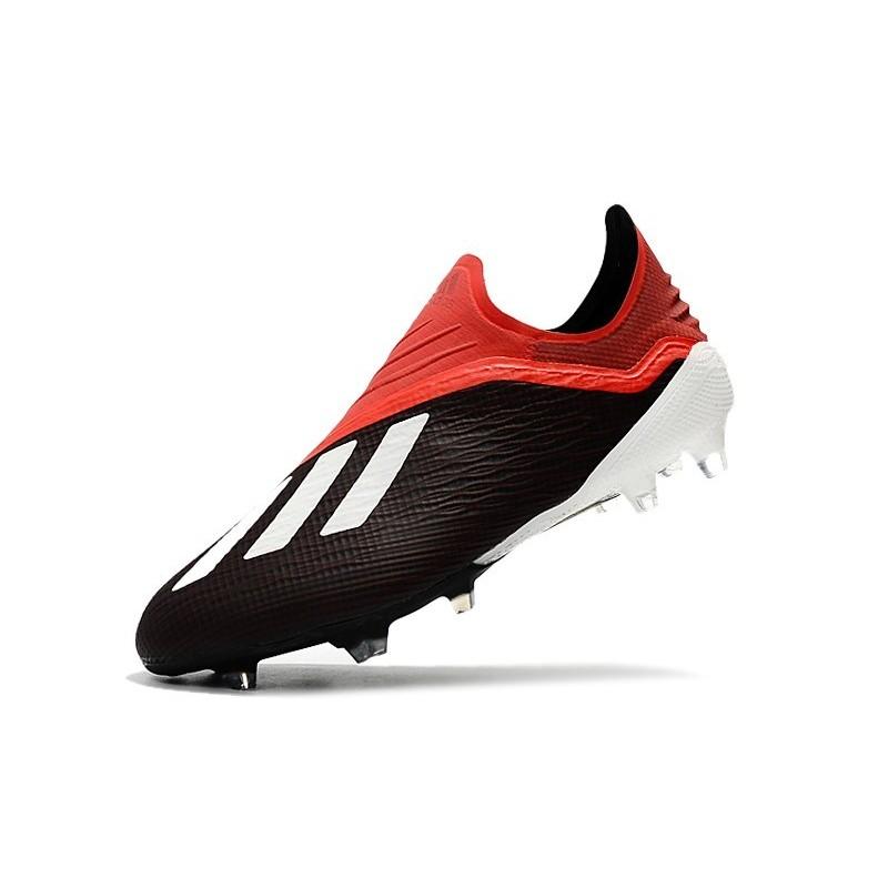 quality design 3fda7 c55d7 Nouvelles Crampons Foot Pour Hommes - Adidas X 18+ FG Noir Rouge Blanc Zoom.  Précédent. Suivant