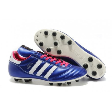 Chaussures Football Copa Mundial Pas Cher Violet Rose Blanc