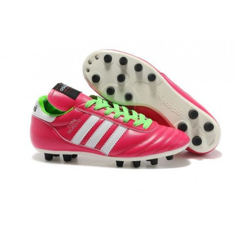 Nouvelles Crampons Football Copa Mundial Hommes Rose Vert Blanc