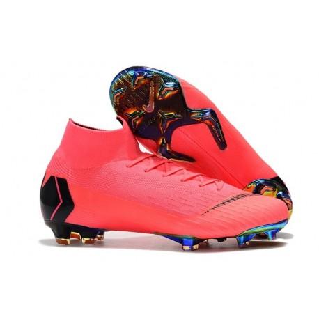 Crampons De Football Nike Mercurial Superfly VI 360 Elite FG Hommes - Rose Noir