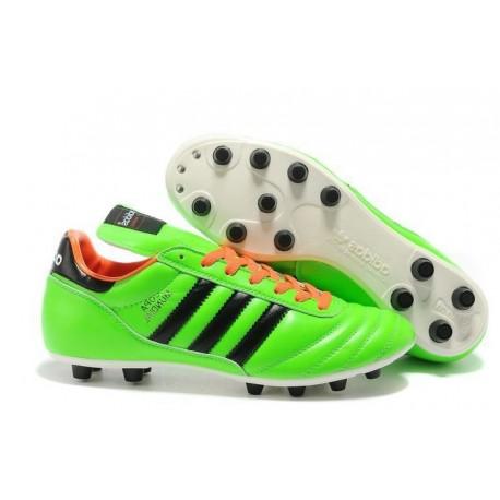 Nouveau Chaussures Football Copa Mundial Vert Orange Noir
