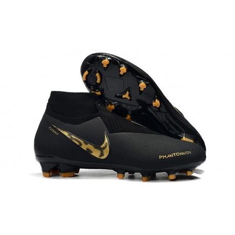 Nouvelles Chaussures de Football Nike Phantom VSN Elite DF FG Black Lux