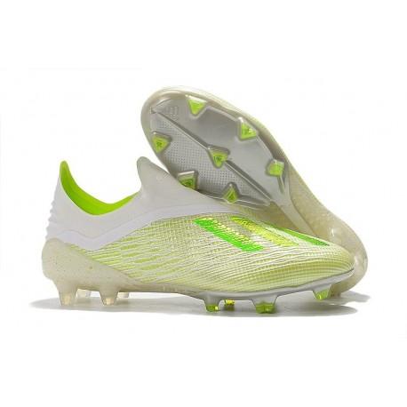 Nouvelles Crampons Foot Pour Hommes - Adidas X 18+ FG Blanc Vert