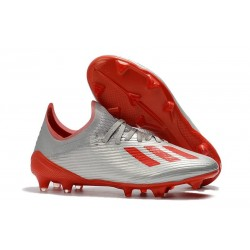 adidas X 19.1 FG Chaussure de Foot Neuf Gris Rouge