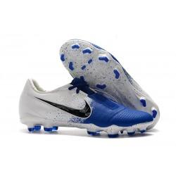 Chaussure de Foot Nike Phantom Venom Elite FG Bleu Blanc