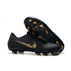Chaussure de Foot Nike Phantom Venom Elite FG Noir Or