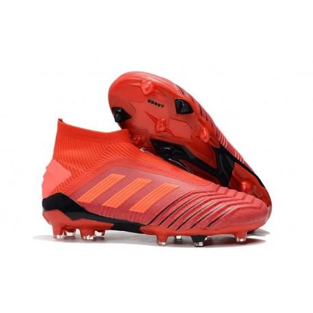 Chaussures de Football adidas Predator 19+ FG Rouge