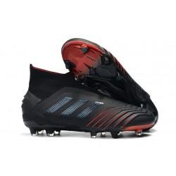 Chaussures de Football adidas Predator 19+ FG Noir Rouge