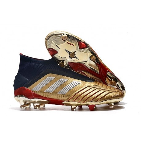 Chaussures de Football adidas Predator 19+ FG Or Rouge