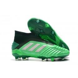 Chaussures de Football adidas Predator 19+ FG Vert Argent
