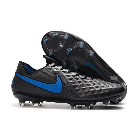 Crampons Neuf Nike Tiempo Legend VIII Elite FG Noir Bleu