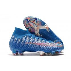 Chaussure Ronaldo Nike Mercurial Superfly VII Elite FG Bleu Shuai