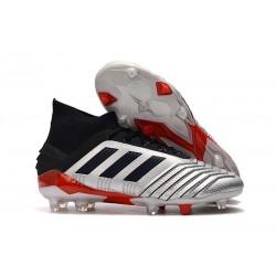 Nouveau Chaussures De Football Adidas Predator 19.1 FG Argent