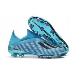 Chaussures adidas X 19+ FG Bleu Cyan Noir